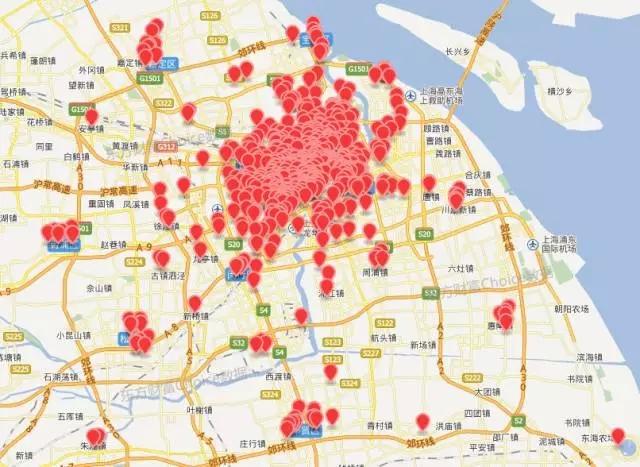 上海区县划分地图