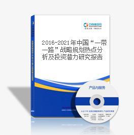 """2016-2021年中国""""一带一路""""战略规划热点分析及投资潜力研究报告"""