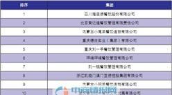 2016年火锅餐饮集团排行榜TOP20
