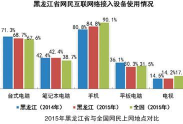 2015年黑龙江省互联网网民接入环境分析