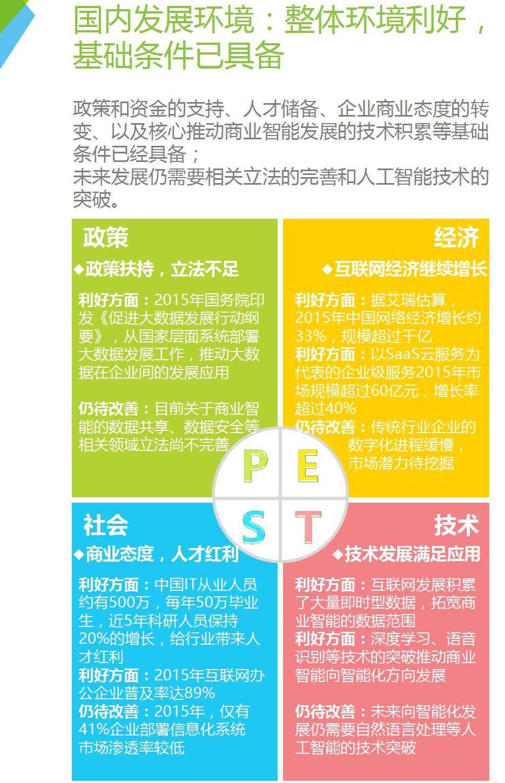 2016年中国商业智能行业概况
