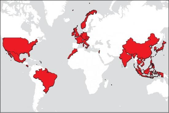 苹果全球供应商分布