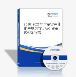 2016-2021年广东省产业地产规划与招商引资策略咨询报告