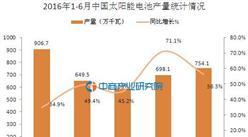 2016年上半年中国太阳能电池产量统计分析:同比增长49.7%
