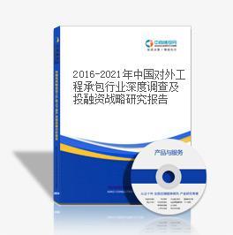 2019-2023年中國對外工程承包行業深度調查及投融資戰略研究報告