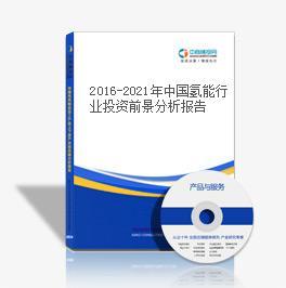 2016-2021年中国氢能行业投资前景分析报告