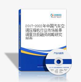 2019-2023年中國汽車空調壓縮機行業市場前景調查及投融資戰略研究報告