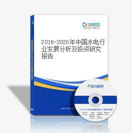2019-2023年中国水电行业发展分析及投资研究报告