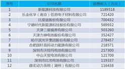 2015年度中国锂离子电池30强企业名单