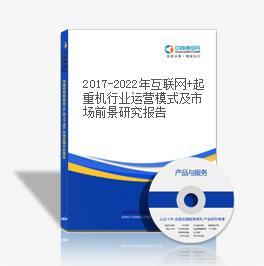 2019-2023年互联网+起重机行业运营模式及市场前景研究报告