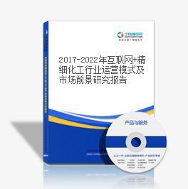 2019-2023年互联网+精细化工行业运营模式及市场前景研究报告