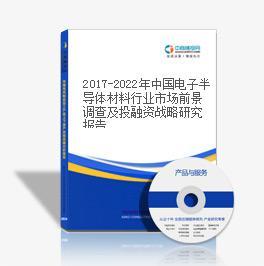 2019-2023年中国电子半导体材料行业市场前景调查及投融资战略研究报告