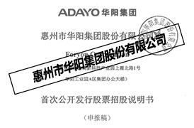 惠州市华阳集团股份有限公司首次公开发行股票招股说明书引用我公司数据