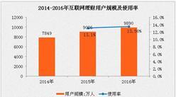 2016年中国互联网理财市场分析:网民使用率为13.5%