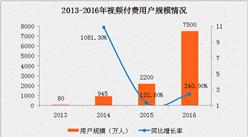 2016中国视频付费市场规模突破100亿 同比增长99.6%(附图表)