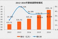 2016碧桂园年报:营收1530.9亿 96.8%来自物业销售