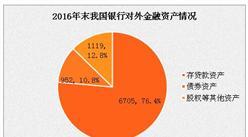 2016年末中国银行业对外金融资产8776亿美元