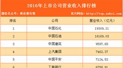 2016年上市公司营业收入排行榜(TOP100)