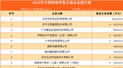 2016年中国网络零售百强企业排行榜