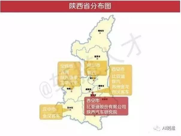 国内分省市汽车主机厂及零部件供应商分布情况一览