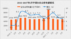 2017年1-5月中国电力工业运行情况分析(图表)