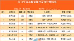 2017中国高校富豪校友排行榜20强