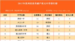 2017年贵州省高考盛产状元中学排行榜