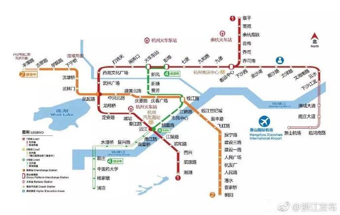 杭州地铁2号线西北段7月3日开通 线路图 站点 站点地图图片