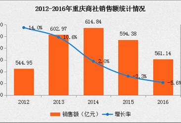 2016年中国连锁百强:重庆商社经营数据分析