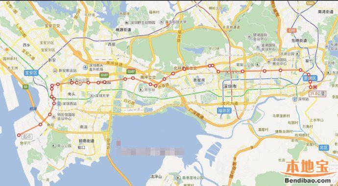 深圳地铁24号线最新消息:站点 走向 线路图 进展