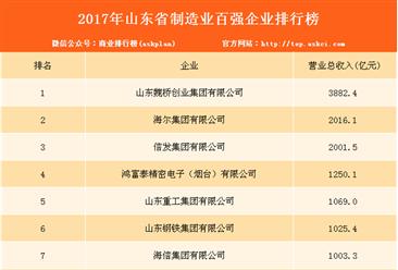 2017年山东省制造业百强企业排行榜(附完整榜单)