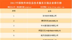 2017年中國軟件和信息技術服務百強企業排行榜(附完整名單)