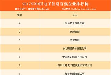 2017年中国电子信息百强企业排行榜