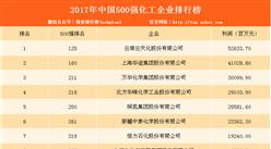 2017年中国500强化工企业排行榜