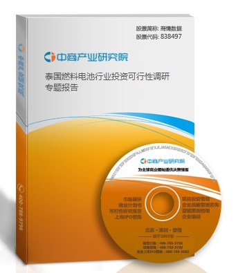 泰國燃料電池行業投資可行性調研專題報告