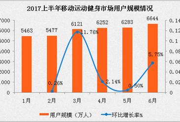 2017上半年移动运动健身市场分析:用户规模超6600万人次(附图表)
