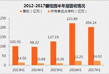 2017上半年富力地產財報:營收204億 同比減少8.8%