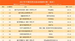 2017年民营企业500强排行榜(重庆全名单)