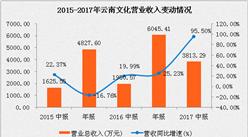 云南文化2017上半年营收3813.29万元  利润实现40倍高速增长(附图表)