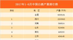 2017上半年全国各省白酒产量排行榜(附榜单)
