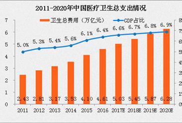 2017中国医疗服务市场规模将达5万亿 占GDP总量的6.6%(附图表)