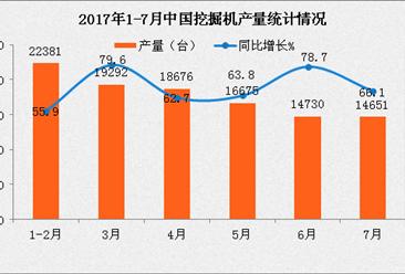 2017年1-8月全国挖掘机产销量及排名分析:销量增长超1倍(附榜单)