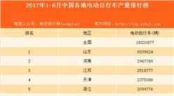 2017上半年中国各地电动自行车产量排行榜:山东成生产第一大省(附榜单)