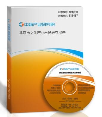 北京市文化产业市场研究报告