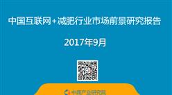2017年中国互联网+减肥行业市场前景研究报告(简版)