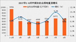 2017年1-8月中国电力工业运行情况分析(图表)