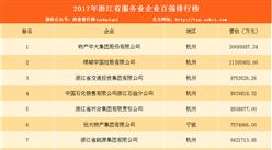 2017年浙江省服务业企业100强排行榜(TOP100)