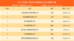 2017年浙江省成长性最快企业百强榜(TOP100)