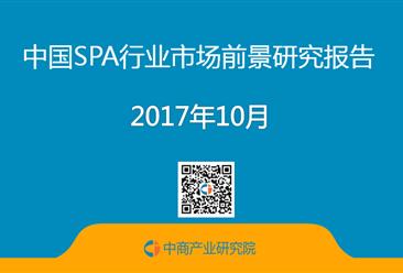 2017年中国SPA行业市场前景研究报告 (简版)