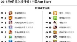 2017年9月国内App收入排行榜:腾讯公司最赚钱!